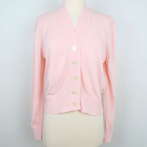 J.Crew Pink Cropped Lightweight Cardigan Sweater